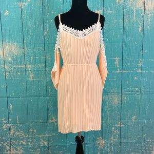 Romeo + Juliet Couture Peach Pleated Dress
